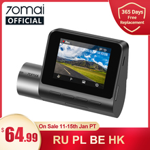 Upgrade 70mai Dash Cam Pro Plus A500 Ingebouwde Gps 70mai Plus Auto Dvr Cam 1944P Speed Coördinaten adas 24H Parking Monitor