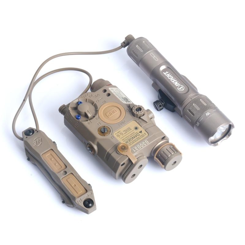 Softair Tactical PEQ-15 IR Laser Light WMX200 LED Flashlight Strobe Peq15 TAPS Double Remote Control Fits For 20mm Rail