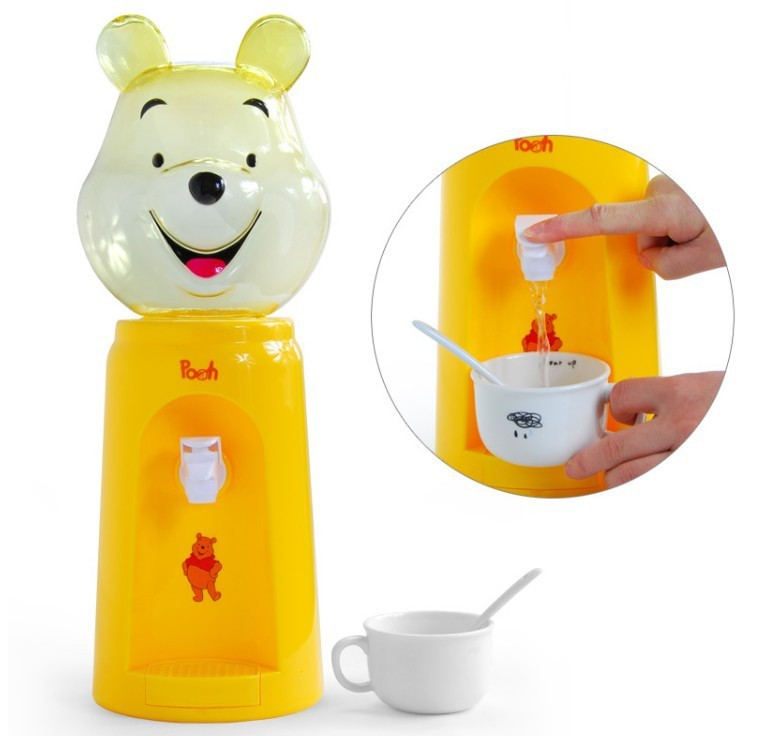 New Cute Cartoon Design Mini 8 Cups Water Dispenser No Warming Drinking Machine For Children Office Pet Dog Cold Water Dispenser