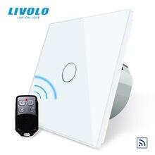 Livolo – interrupteur tactile à distance, 220-250V AC, pour applique murale, avec Mini télécommande C701R-11-RT12, sans logo, Standard ue