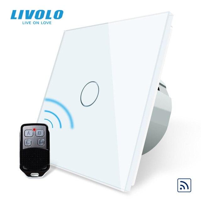 Livolo EU Standard Remote Switch, AC 220~250V Wall Light Remote Touch Switch With Mini Remote Controller C701R 11 RT12,no logo