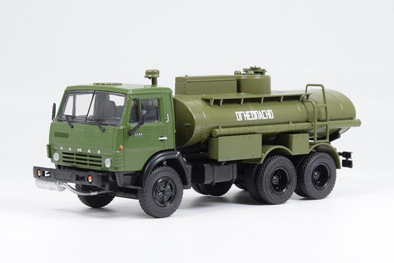 Collectible Alloy Toy Model Gift 1:43 Scale Soviet Union Russian KAMAZ AC-9 (Kamaz-5320) Tanker Gasoline Transporter Truck Model