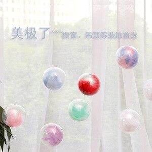 Новый прозрачный открываемый пластиковый шар для рождественских украшений, прозрачная безделушка, Подарочная коробка 3-16 см