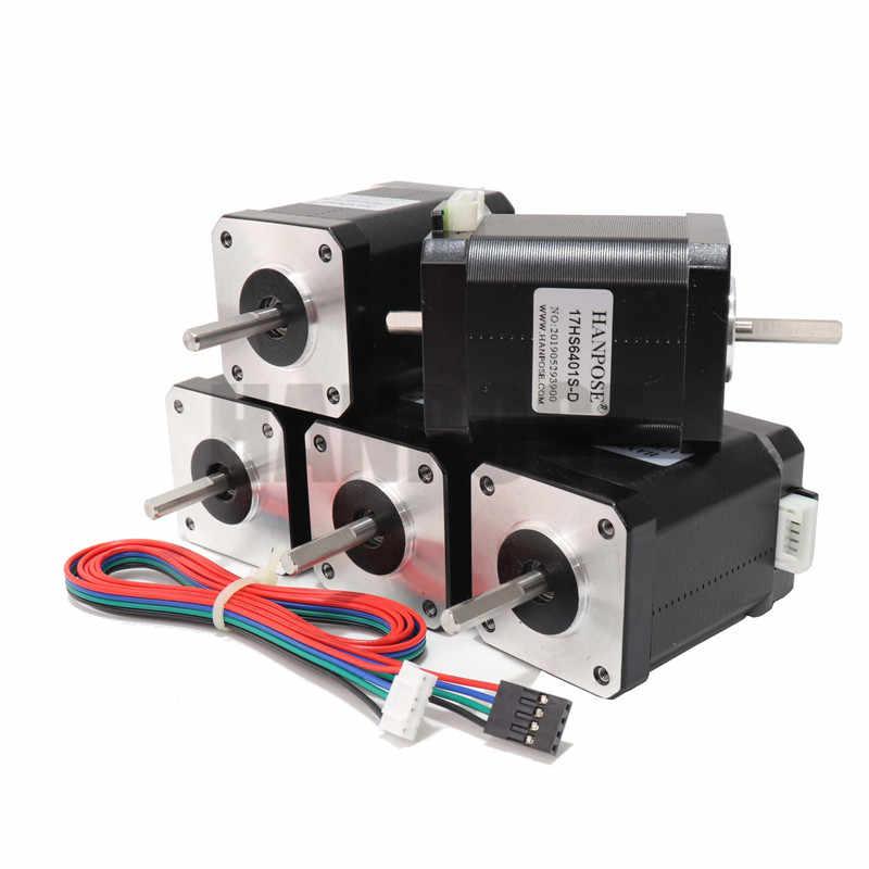 ¡3 piezas 42BYGH CNC paso a paso Motor1.8A 73N! cm (17HS6401S) 4-eje doble 12V Nema17 Motor paso a paso para 3D