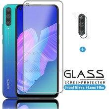Para huawei p40 lite e 2in1 vidro de proteção para huawei p 40 lite e p40lite e p40 luz protetor de tela câmera do telefone filmes