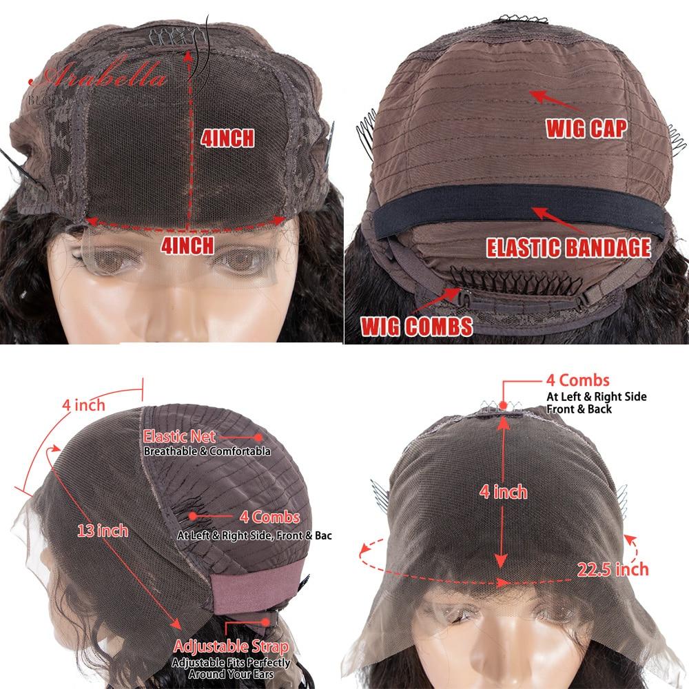 Deep Wave Bob Wig  Hair 180% Density Lace Closure Wig  With Baby Hair 100%  Wigs Bob Deep Curly Arabella 6