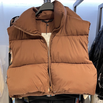 New Spring Autumn Women Warm Sleeveless Jackets Vintage Solid Zipper Cotton Coat Female Casual Short Outwear Ladies 2