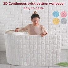 Papel tapiz con patrón de ladrillo continuo 3D, autoadhesivo para pared, decoración del hogar, 70cm x 1m