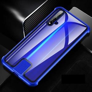 Image 5 - Coque pour Huawei Honor 20 Pro Nova 5T 5 couverture luxe métal pare chocs 9H verre trempé pleine protection kimTHmall