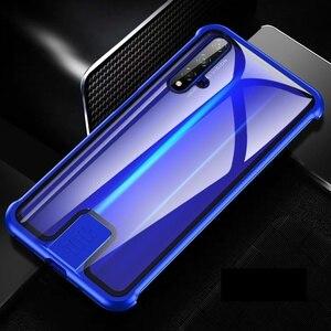 Image 5 - Fall Für Huawei Honor 20 Pro Nova 5T 5 Abdeckung Luxus Metall Bumper 9H Gehärtetem Glas Voll Schützen kimTHmall
