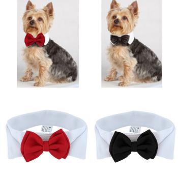 1PC szczeniak psy regulowana muszka kołnierz krawat Bowknot Bowtie wakacje akcesoria do dekoracji ślubnych nowość tanie i dobre opinie CN (pochodzenie) Krawat i muszka POLIESTER Polyester +Cotton white red 6 5*30cm 6 5*37 cm