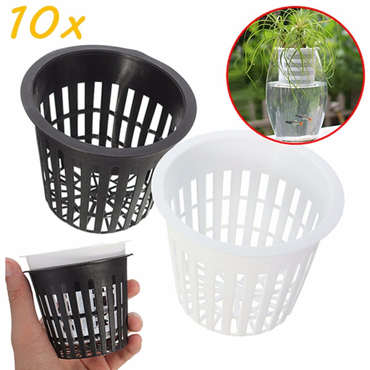 10x Mesh Pot Net Cup Basket Garden Plant Grow Vegetable Germinate Nursery PotsXJ
