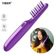 Peine cepillo de pelo para desenredar, cepillo de pelo rizado para desenredar, solución automática