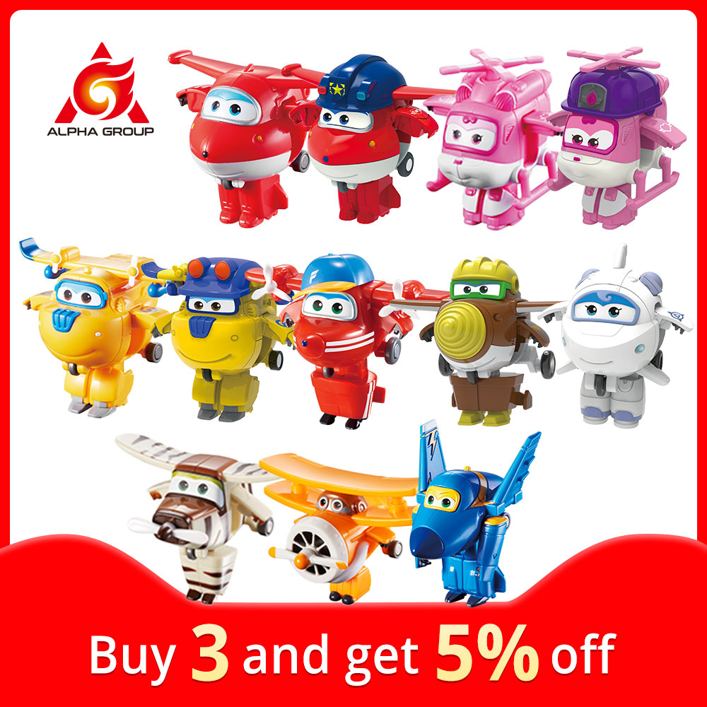 Миниатюрные трансформирующие игрушки «Супер Крылья» 27 типов, экшн-фигурки-роботы из самолета, игрушки-трансформеры для детей, подарки