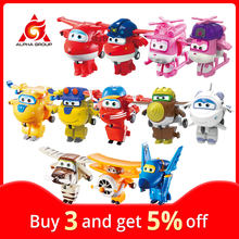 27 tipos super asas mini transformando brinquedos deformação avião robô figuras de ação transformação brinquedos para crianças presentes