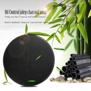 Bamboo Charcoal Essence Oil Soap Skin Care Treatment Skin Whitening Blackhead Remover Acne Treatment Oil Control Soaps T0868 rose soap 100% natural handmade 120g hair skin beauty whitening moisturizing cleaner antibacterial acne treatment