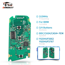 Dandkey 315MHz 434MHz 868MHz YGOHUF5662 YGOHUF5767 Car Remote Key Circuit Board For BMW 5 7 F Series FEM / BDC CAS4 CAS4+