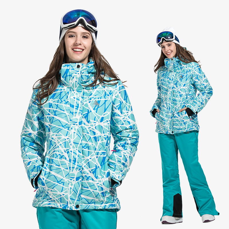 2019 Women's Ski Jacket Overalls Hooded Warm Sport Snow Suits For Woman Windproof Snowboarding Female Skiing Clothes Outfits