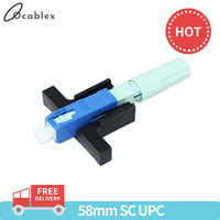 New Model 58MM SC UPC Fast Connector Single-Mode Connector FTTH Tool Cold Connector Tool Fiber Optic Fast Connnector