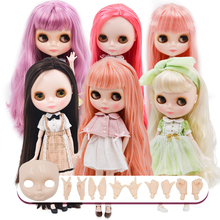Neo Blyth Doll Customized NBL Shiny Face,1/6 OB24 BJD Ball Jointed Doll Custom Blyth Dolls for Girl, Gift for Collection NBL23 factory blyth doll bjd neo blyth doll nude customized matte face dolls can changed makeup and dress diy 1 6 ball jointed dolls