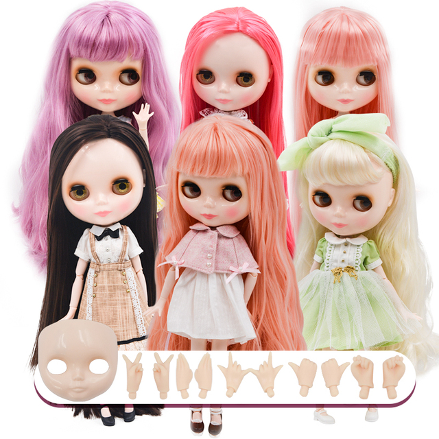 Neo Blyth Doll Customized NBL Shiny Face,1/6 OB24 BJD Ball Jointed Doll Custom Blyth Dolls for Girl, Gift for Collection NBL23
