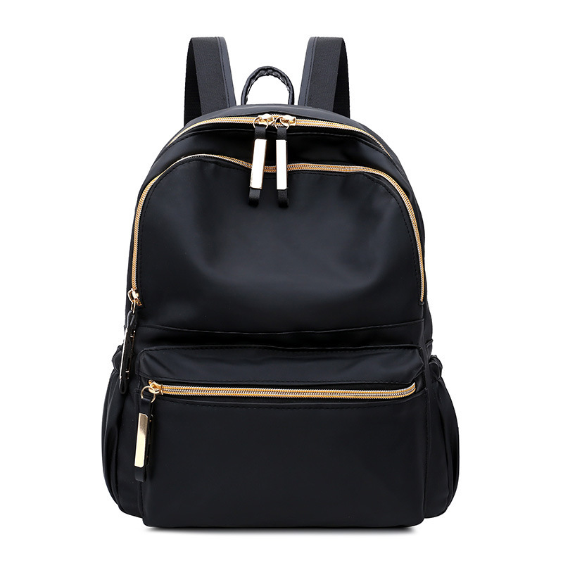 2019  Women's Backpack Black Fashion Oxford Cloth Large Capacity Waterproof Shoulder Bag02