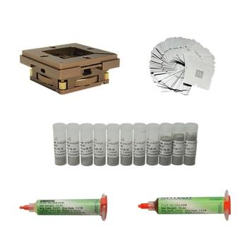 цена 47pcs/lot reballing stationUniversal BGA Reballing Jig Kit 33pcs 90mm BGA Heating Stencils  Solder Flux 11pcs 25K Solder Ball онлайн в 2017 году