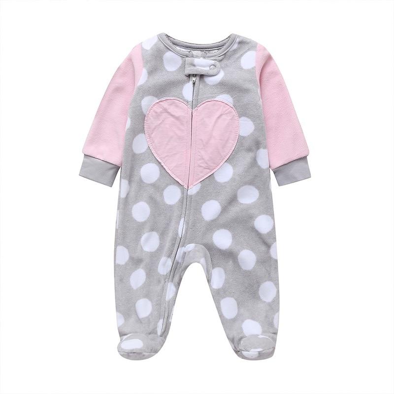 Комбинезон для маленьких девочек с рисунком единорога; зимняя одежда для новорожденных мальчиков с длинными рукавами; 0-12 месяцев; с круглым вырезом; на молнии; - Цвет: 4