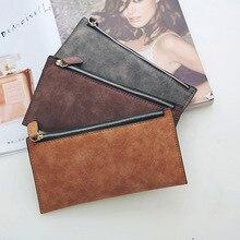 Long Wallet Women Money Pocket Women Wallets PU Leather Wallet Portfel Sk Rzany Cartera Mujer  Zipper Pocket Purse Women Leather