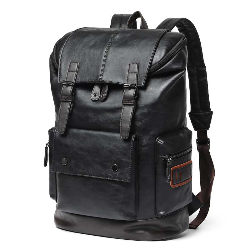 Luxury Brand Leather Men Backpack Youth Large Capacity Travel Backpack Boy Laptop School Bag Male Business Shoulder Bag Mochila|bag mochila|mochila brandrucksack school - AliExpress