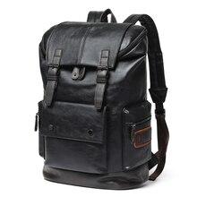 Luxury Brand Leather Men Backpack Youth Large Capacity Travel Backpack Boy Laptop School Bag Male Business Shoulder Bag Mochila
