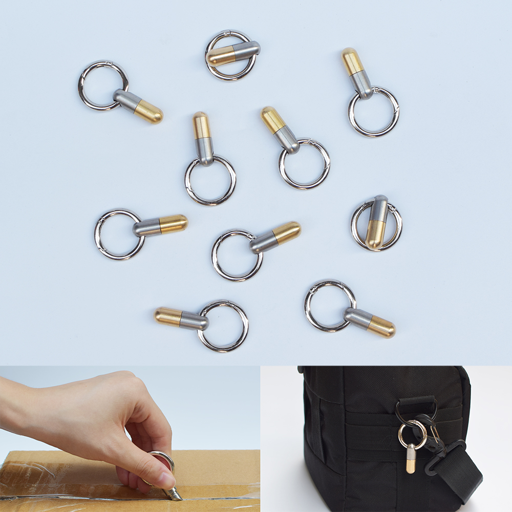 Travel Multifunctional Cutting Tool Pill Micro Blade Bevel Angle Key Ring Tiny