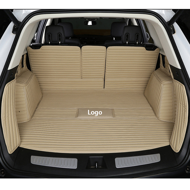 Custom Logo Car Trunk Mat For Ford All Model Focus Explorer Mondeo Fiesta Ecosport Everest S-max Mustang Edge Tourneo Kuga
