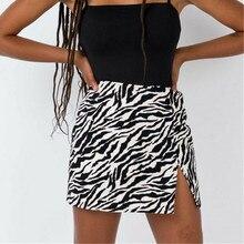 Women Serpentine Skirt Ladies Leopard High Waist Pencil Wrap Skirt