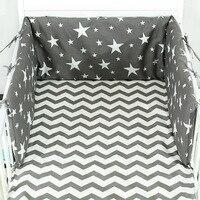 Детская кровать вокруг чистого хлопка обороны Collide комплект для бампера кусок типа можно отпороть и мыть детские постельные принадлежности...