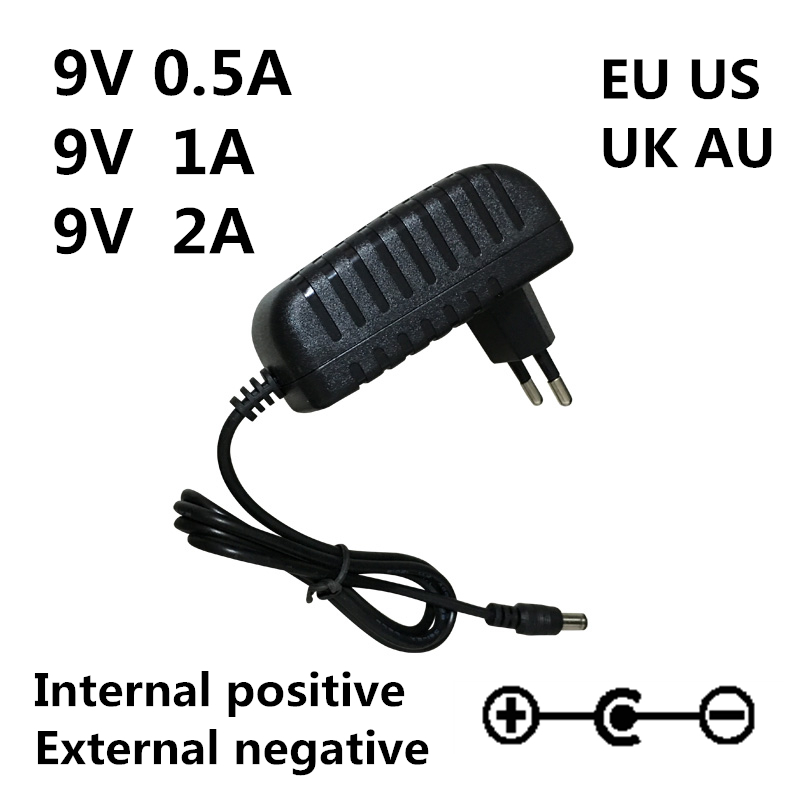 AC 100-240V DC 9V 0.5A 1A 2A Electric Guitar Stompbox Power Supply Adapter charger 9 V Volt For Guitar Parts Effect Pedal Board