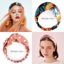 Hair Accessories 15 PCS Head Wraps for Women  Headbands Vintage Flower Printed Cross Elastic Wrap