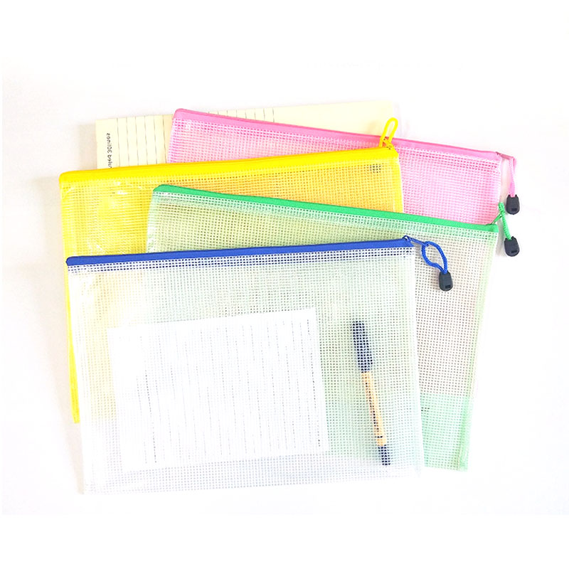 2019 New A3/A4/A5/A6 Grid Transparent Document Bag PVC Zipper Stationery Pouch Filing Products Bag Stationery Office Supplies