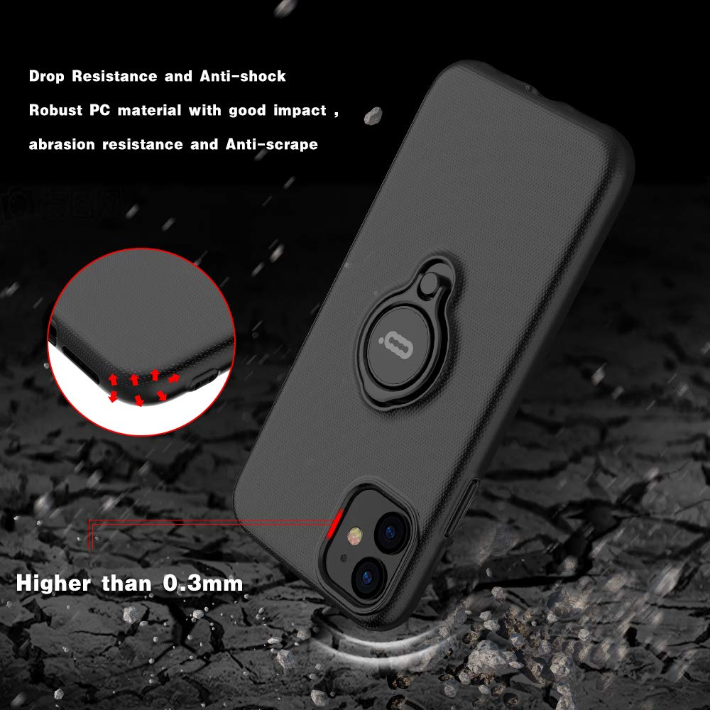 Image 3 - iconflang For iPhone 11 Pro Max Case Car Holder Stand Magnetic Bracket Hard PC Cover Case For iPhone 11 Pro Funda Coque CapaFitted Cases   -