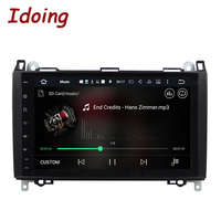 Idoing 2GB+16G 1Din Car Radio GPS Multimedia Player Android6.0 For MercedesBenz A Class&B Class Video Audio Built in 3G Dangle