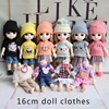 Domestic 16cm17cm 8 points BJD doll clothes new dress dress suit boys and girls play house toys