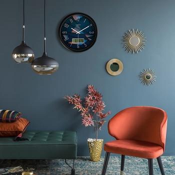 Diameter 35.5cm Watch Clock Living Room Modern Quartz Clock Silence Individual Watch Creative Clock Modern Design Timer