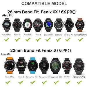 Image 5 - 26 22Mm Quickfit Horloge Band Strap Voor Garmin Fenix 6 6X Pro Siliconen Easyfit Polsband Fenix 5X Plus 3HR Smart Accessoires