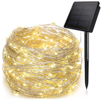 LED Solar Lamp String Lights Outdoor Fairy Garden 50/100/200 LEDs Holiday Party Solar Powered Garland Home Christmas Decoration