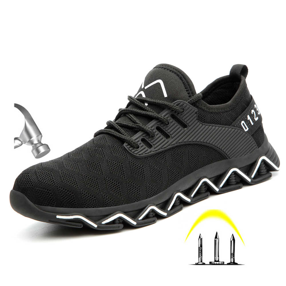 CE onaylı yeni erkek moda ışık çelik ayak Anti Smashiong iş ayakkabısı erkekler açık delinme geçirmez güvenlik ayakkabıları ayakkabı botları