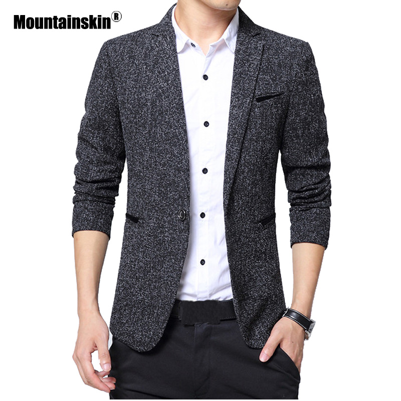 Mountainskin Autumn Men's Casual Suit 2020 New Coats Mens Fashion Slim Solid Jackets Male Brand Clothing M~5XL SA750