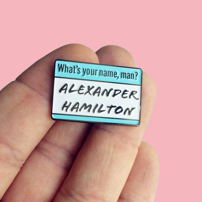 Alexander What's My Name as Seen on Buzzfeed Musical Enamel Brooch Pins Badge Lapel Pins Brooches Alloy Metal Fashion Jewelry