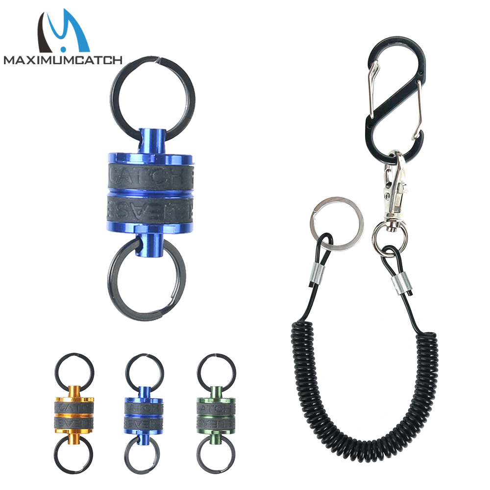 Maximumcatch DE099 Fishing Magnetic Net Release & Catch Net Holder 4kg With Strong Cord Fishing Accessory