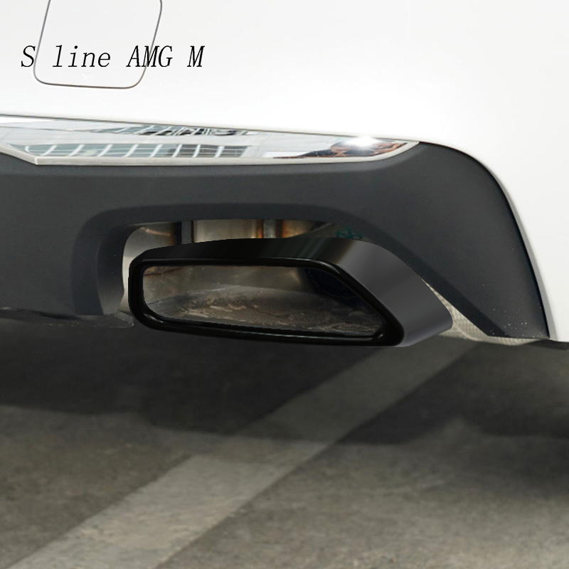 Decoración de coche para BMW serie 5 G30 G38, accesorios exteriores, garganta trasera de coche, decoración de tubo de escape, pegatina y calcomanías embellecedoras