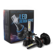 XENPLUS LED H4 H7 H8 H9 H11 H13 HB3 9005 HB4 9006 H1 H3 9012 Auto S3 Car Headlight Bulbs 40W 9600LM 6500K Head Lamp Fog Lights(China)